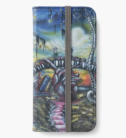 Crossing Over To The Other Side Artwork iPhone Wallet/Case/Skin
