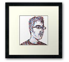 Nerd Face - Sort of Handsome Framed Print