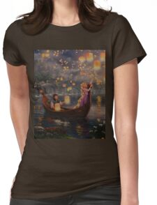 Stars Fireworks Night Life  Womens Fitted T-Shirt