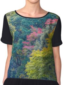 Layers Of Color- Trees in Tokyou Chiffon Top