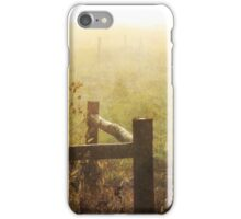 Behind the fence post iPhone Case/Skin