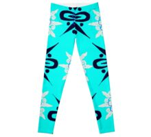 ABSTRACT IN BLUE Leggings