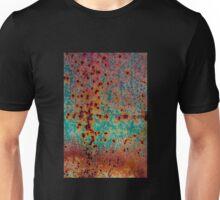 Orange and Aqua Rust Unisex T-Shirt