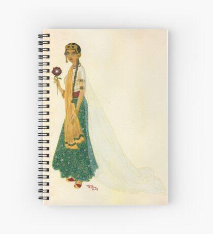 Exotic Princess on Ochre Wash  Spiral Notebook