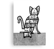 Cat Architecture Section Metal Print