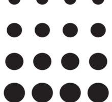 Black Dots Dress Sticker