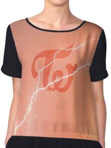 Twice - Lightning - Logo Chiffon Top