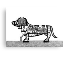 Dachshund Architecture Section Metal Print