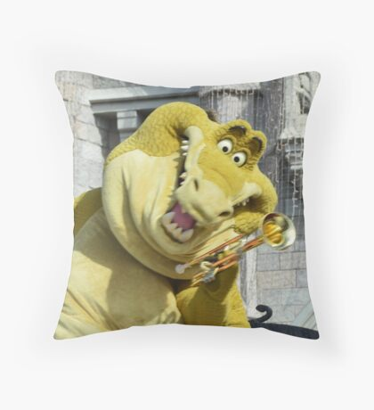 Lewis Louis Crocodile Alligator Louis Armstrong Trumpet Throw Pillow