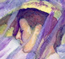 Woman with Blue Veil Sticker