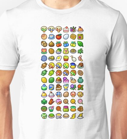 Paper Mario - All Recipes & Ingredients Unisex T-Shirt