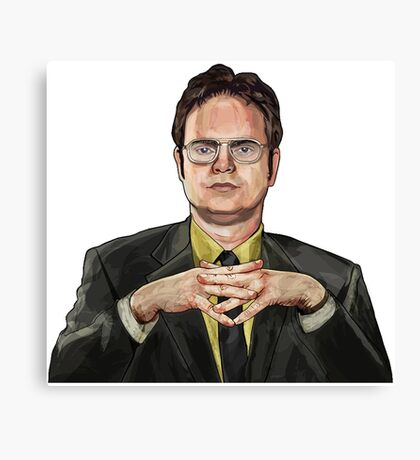 Dwight Schrute Digital Canvas Print