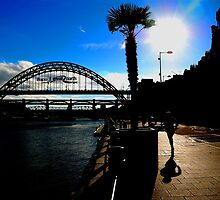 Tyne Bridge Great North Run by Andrew Pounder
