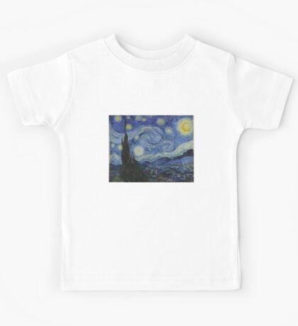 Starry Night (Vincent van Gogh) Kids Tee