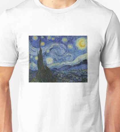 Starry Night (Vincent van Gogh) Unisex T-Shirt
