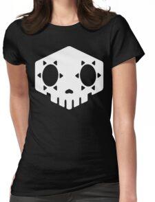 Sombra Skull White Womens Fitted T-Shirt