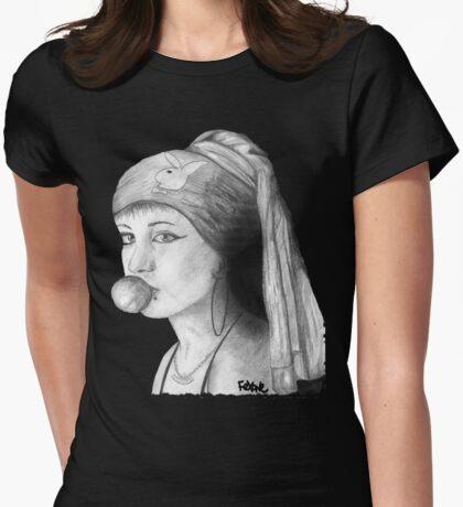 la choni joven de la perla, Girl with a Pearl Earring Womens Fitted T-Shirt