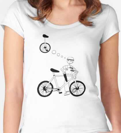 Kid just wants a unicycle Women's Fitted Scoop T-Shirt