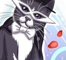Tuxedo Cat (Rose Pattern) Sticker