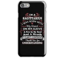 I'm A Sagittarius I Can't Control Funny T Shirt iPhone Case/Skin