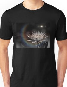 monochrome lily and light Unisex T-Shirt