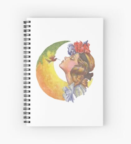 Beautiful Girl with Hummingbird Spiral Notebook