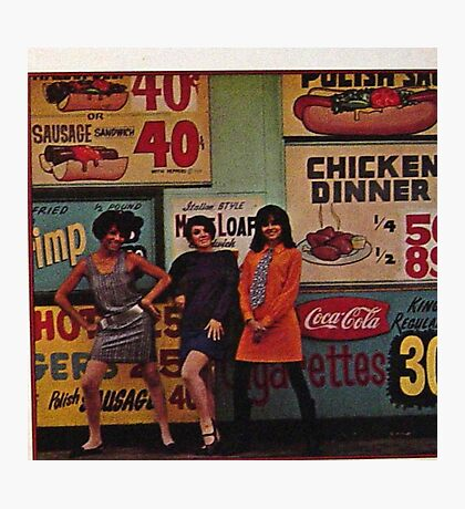 Greasy Spoon Mod Girls Photographic Print