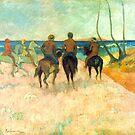 Paul Gauguin - Riders on the Beach by IntWanderer