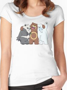 Poke Bare Bears Women's Fitted Scoop T-Shirt