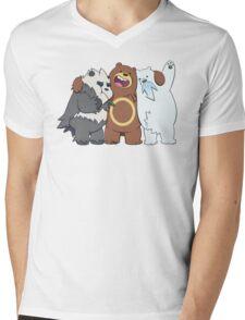 Poke Bare Bears Mens V-Neck T-Shirt