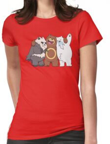 Poke Bare Bears Womens Fitted T-Shirt