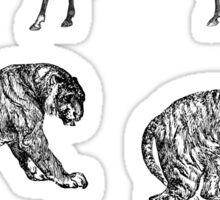 mama huhu - Horse Horse Tiger Tiger Sticker
