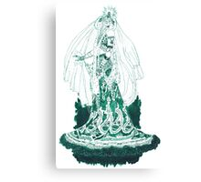 Enchantress in Emerald Ink Canvas Print
