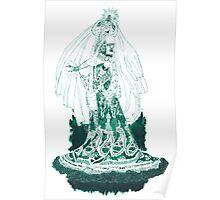 Enchantress in Emerald Ink Poster