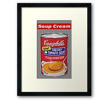 "Supreme ""Soup Cream"" Framed Print"