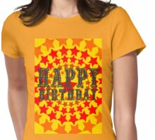 Happy Birthday: Circle of Red Stars Womens Fitted T-Shirt