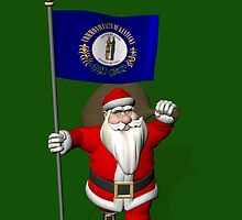 Santa Claus With Flag Of Kentucky by Mythos57