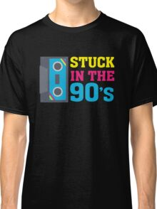 Stuck In The 90's Cassette Tape Vintage Retro Tech Classic T-Shirt