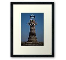 Whitford lighthouse Gower Framed Print