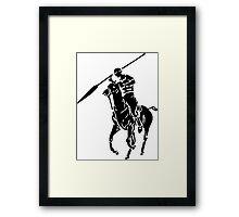 Spear Polo  Framed Print
