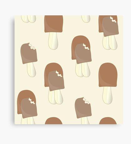 The background of ice cream Canvas Print