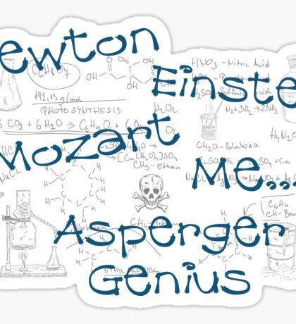 Asperger Genius - Unisex Sticker