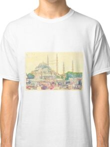 Blue Mosque, Istanbul, Turkey Classic T-Shirt