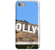 Hollywood sign on Santa Monica mountains in Los Angeles iPhone Case/Skin