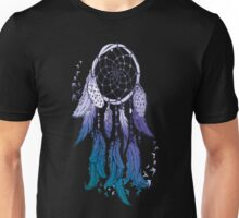 DreamCatcher Electric-Blue Fading Effect Spiritual TShirt. Unisex T-Shirt
