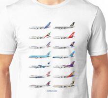 Airbus A380 Operators Illustration Unisex T-Shirt