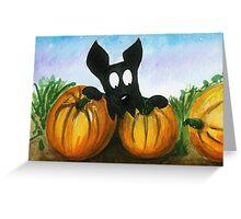 Scottie Dog 'Choosing a Pumpkin' Greeting Card