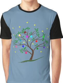 Colour Me Christmas Tree Baubles Graphic T-Shirt