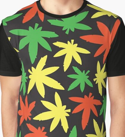 Weed leaf rasta pattern Graphic T-Shirt