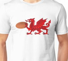 Welsh Dragon With a Rugby Ball Unisex T-Shirt